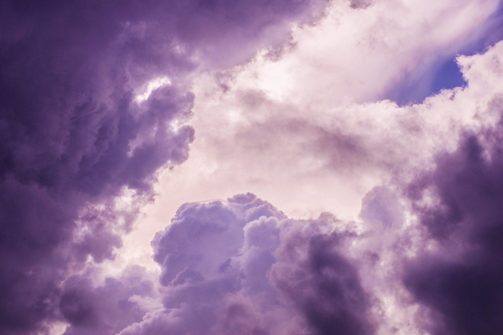 Wallpaper Abstrak 3d Himmel Tapete Wolken Lila Bew 246 Lkt Sturm Professor Falken