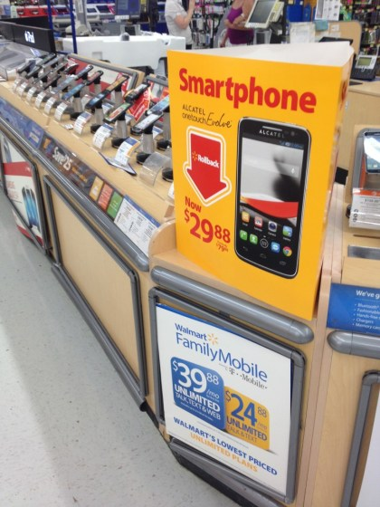 Walmart Family Mobile Cheap Wireless Plans #Phones4School #CollectiveBias #Shop #Cbias RollBack Pricing with Alcaltel One Touch Evolve