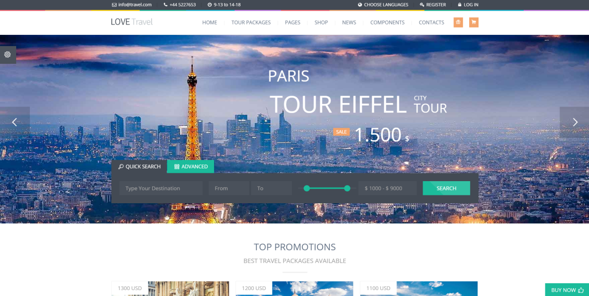 Best Travel Agency WordPress Themes for Tourism