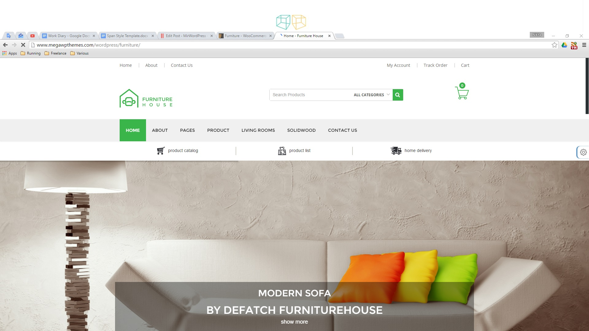Salon E Commerce 2016 Best Furniture Store E Commerce Themes For Wordpress