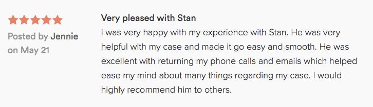 Stan Switzer Rocklin Attorney review
