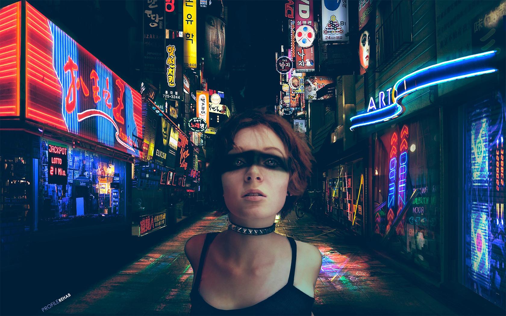 Girl With Glasses Wallpaper 1680x1050 Cool Cyberpunk Wallpaper Punk Girl