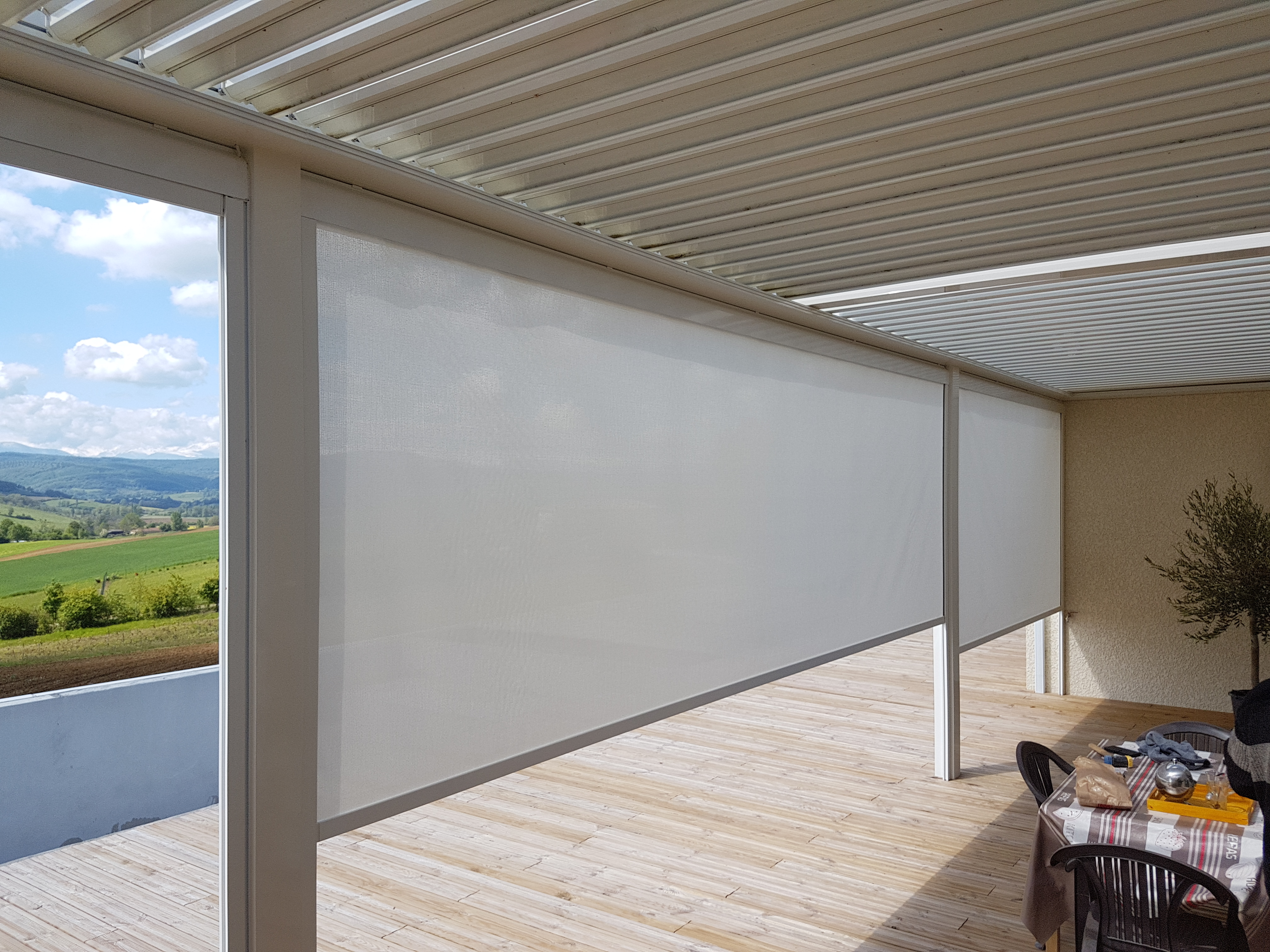Store Transparent Pour Terrasse Store Anti Vent Terrasse Transparent Par Profilstores Sur Mesure