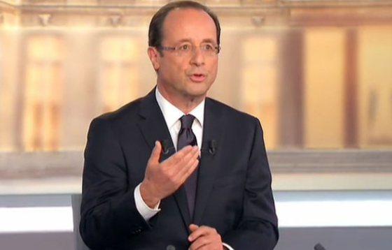 François Hollande lors du débat télévisé du second tour de l'élection présidentielle, 2 mai 2012 © France 2