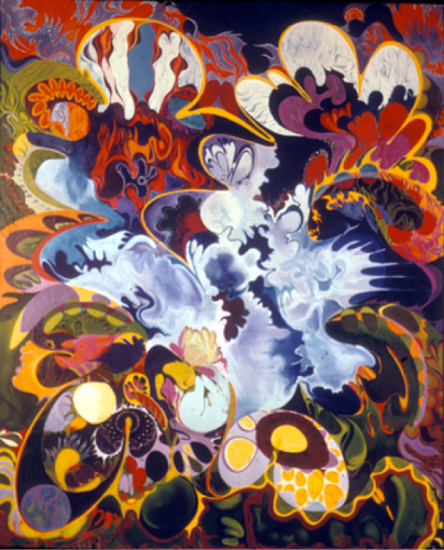 "Isaac Abrams, ""Cosmic Orchid"", 1967, Collection de Bruno Bischofsberger."