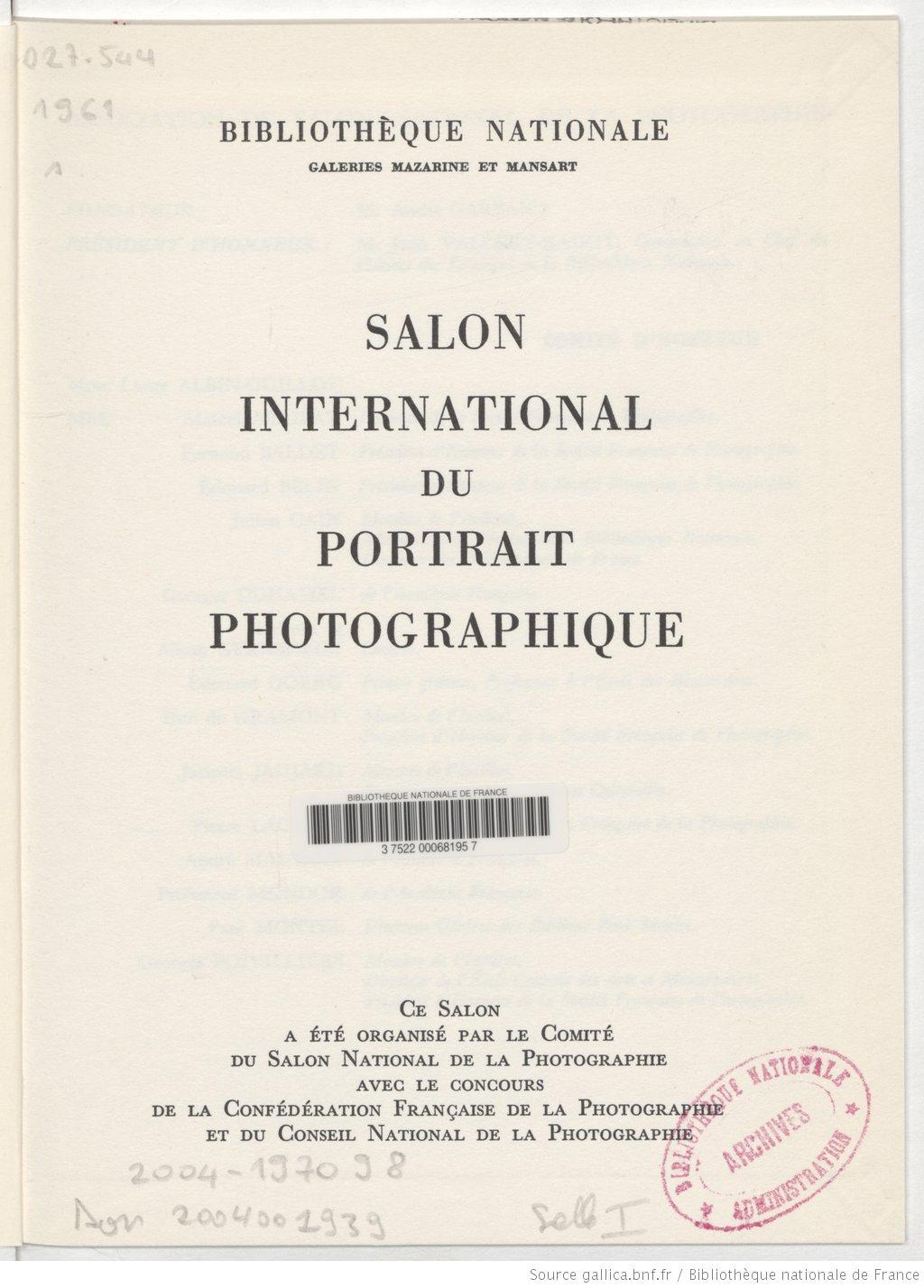 Comment la biblioth que nationale de france a contribu - Salon international de la photographie ...