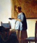 La Jeune Femme en bleu lisant une lettre, Johannes Vermeer, 1663