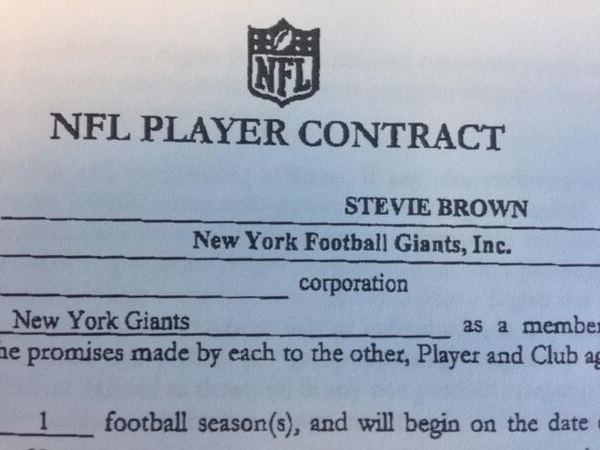 stevie brown contract