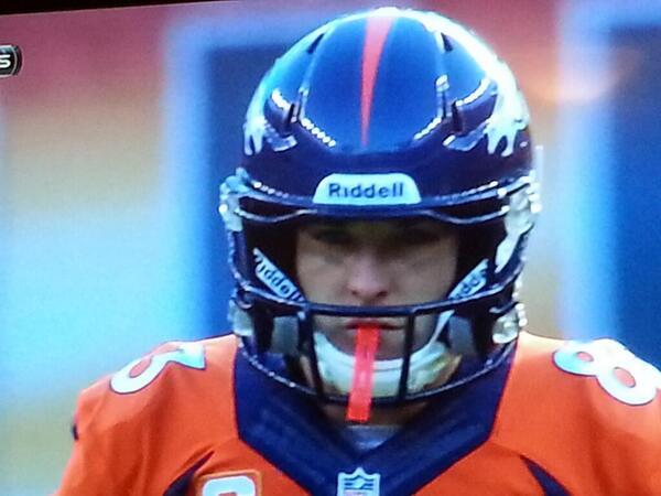 Wes Welker 2014 Helmet