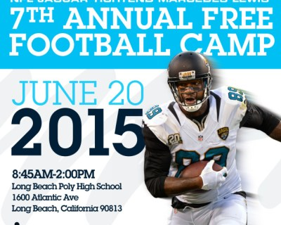Marcedes Lewis hosting free youth football camp