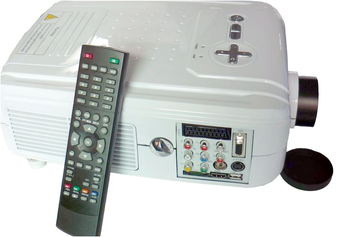 Wamsler Xbox Hd Home Theatre Projector Met Dvb T Usb Card Reader 2000ansi