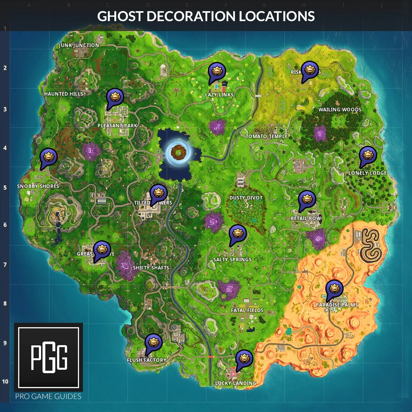 Decoration Location Fortnitemares Ghost Decoration Locations – Pro Game Guides