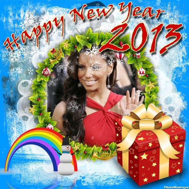 Marcos para fotos gratis online de año nuevo Programas para editar