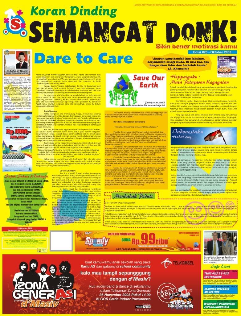 Contoh Artikel Majalah Contoh Pidato Singkat Teks Naskah Pidato Pendek Koran Dinding Dan Majalah Dinding 171; Journalist Club Sisma