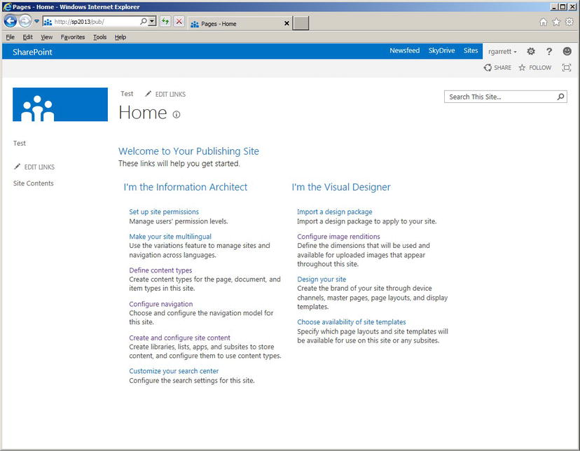 Sharepoint 2013  SharePoint Publishing Infrastructure (part 1) - A