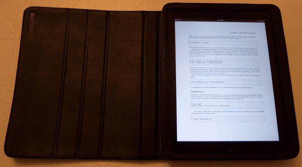 The Rails 3 Tutorial PDF on the iPad