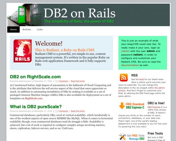 Radiant on DB2