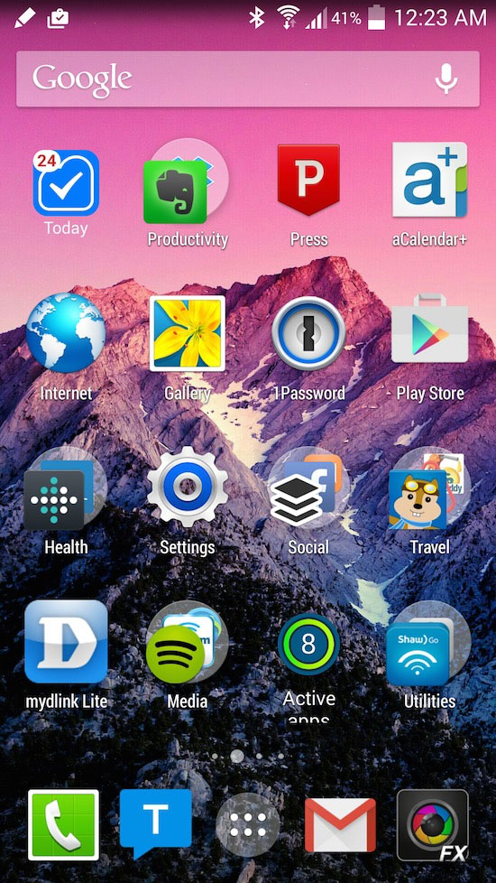 My Android home screen