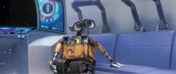 WALL-E in the escape capsule