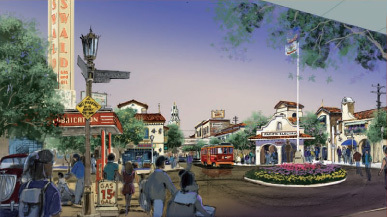 California Adventure Plaza Concept Art