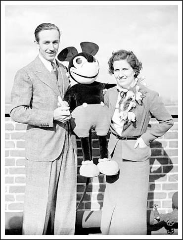Walt and Lillian Disney, London, 1935