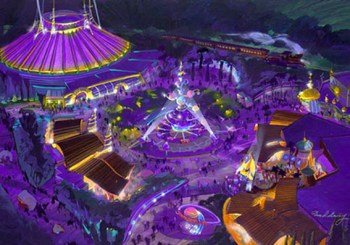 Tomorrowland rendering, Hong Kong Disneyland