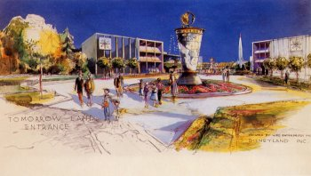 Disneyland Tomorrowland rendering, 1955