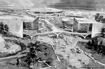 Tomorrowland rendering, Disneyland, 1967
