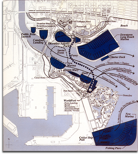 Port Disney Water Plan, 1990 (small)
