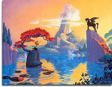 Concept Art for Fantasia Gardens, Beastly Kingdom, Animal Kingdom