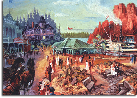 Rendering of Frontierland for Disneyland Paris