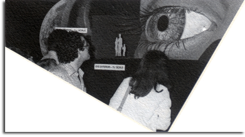 Giant eye at WED Open House, 1982