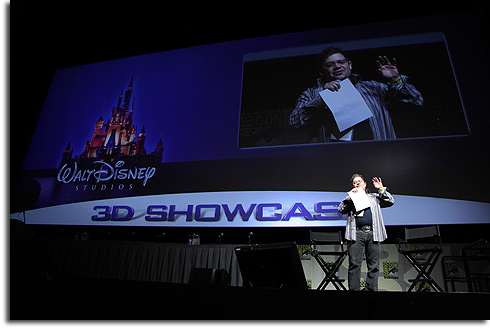 Patton Oswald hosts the Disney 3-D panel at Comic-Con