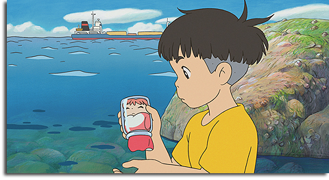 Sosuke and his goldfish in Ponyo