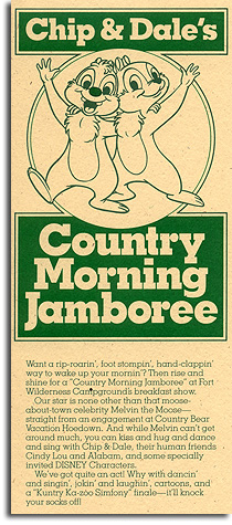Flier for Chip & Dales Country Morning Jamboree