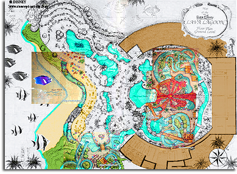 Colorized composite of Lava Lagoon blueprints