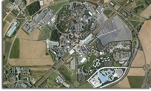 Map of Disneyland Resort Paris with Lava Lagoon overlay