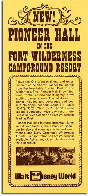 Brochure for Pioneer Hall, 1974