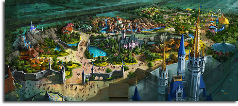 Altered Walt Disney World Fantasyland expansion concept, October 2009