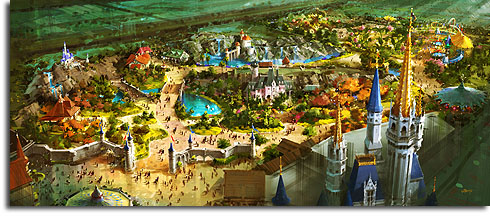 Original Walt Disney World Fantasyland expansion concept, September 2009