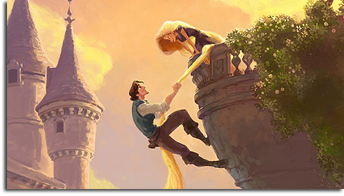 Concept art for Rapunzel