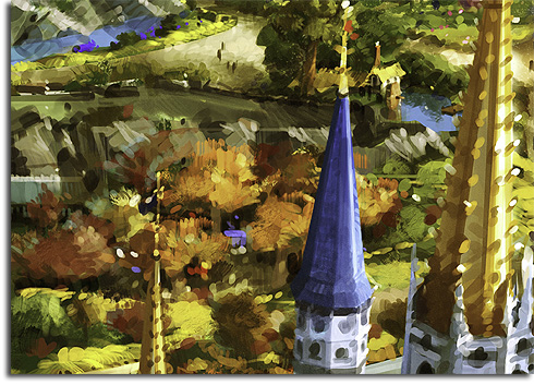 Closeup of Aurora's Cottage from the rendering of Walt Disney World's Fantasyland expansion