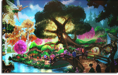 Rendering of Pixie Hollow, part of the Walt Disney World Fantasyland expansion