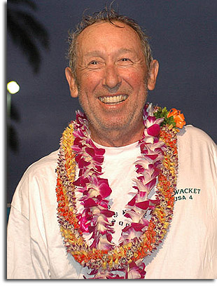 Roy Disney in Honolulu after completing the Transpac Yacht Race in 2005