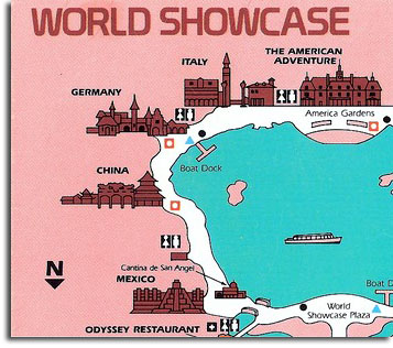 Detail of EPCOT map, 1983