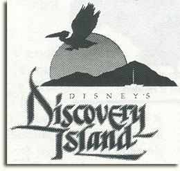 Proposed Discovery Island logo by Michael Warzocha, 1993