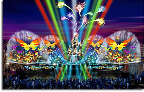 Concept art for Fantasmic! at Tokyo DisneySea