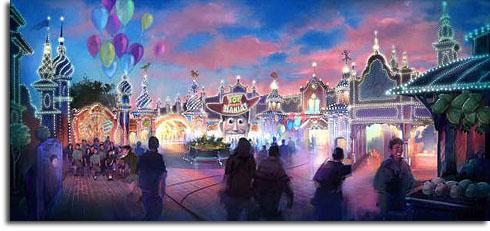 Rendering of Toy Story Mania! at Tokyo DisneySea