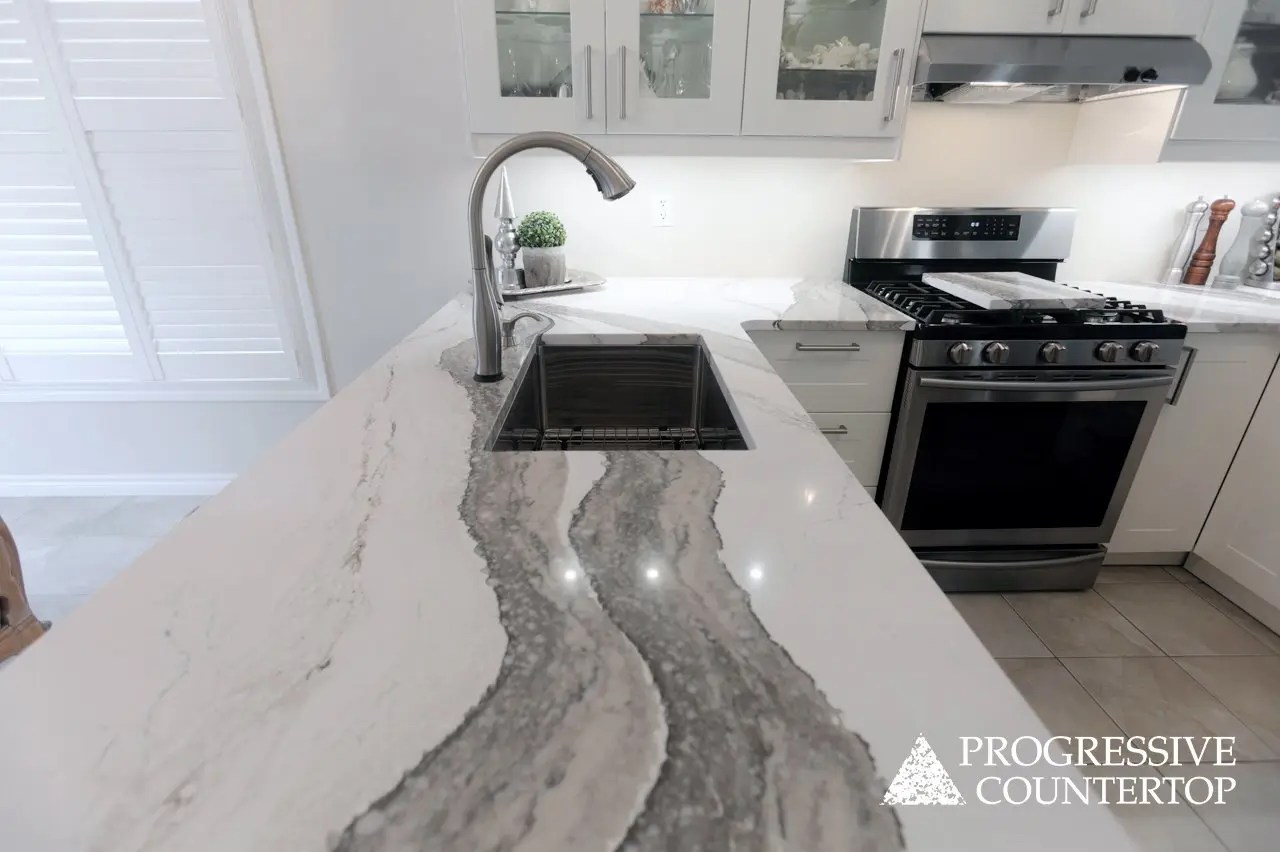 Cambria Skara Brae Quartz Kitchen Countertop Project Gallery Progressive Countertop