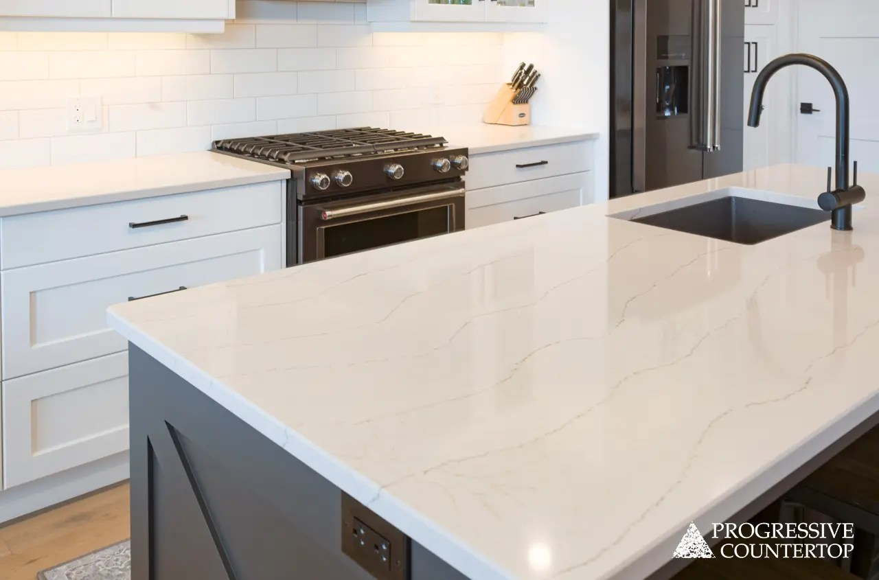 Cambria Quartz Ella Kitchen Countertop Quartz Bathroom Countertops Progressive Countertop